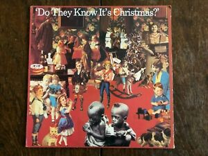 """""""Do They Know Its Christmas"""" Band Aid US Press Bono, Phil Collins, Sting, Bowie"""