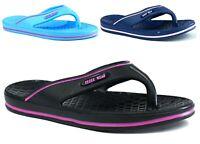 New Ladies Beach Shower Flip Flop Flat Toe Post Casual Daily Wear Slipper