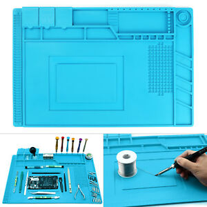 45x30cm Anti Static Magnetic Heat Insulation Silicone Pad Solder Repair Desk Mat