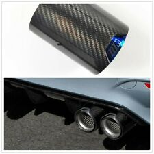 CARBON FIBER STAINLESS EXHAUST TIP PIPE BLUE For M2 M3 M4 73mm IN / 93mm OUT