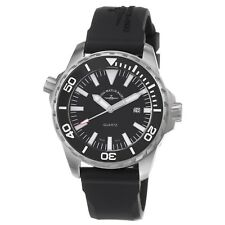 Zeno Men's Divers Black Dial Black Rubber Strap Quartz Date Watch 6603-515Q-A1