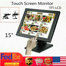 15 inch LCD Display Touch Screen LED Monitor USB VAG 1024*768 Restaurant Retail