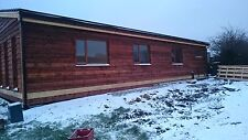 50ft X 30ft 3 Bed Log Cabin Lodge Timber Frame Holiday Park Home Static Caravan