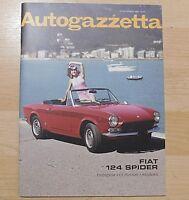 Fiat 124 Spider Autogazzetta Magazine (History & new model reviews) 2016 / 2017