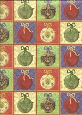 CHRISTMAS BALLS Tree Ornaments 12 x 12 Paper - 2 Sheets