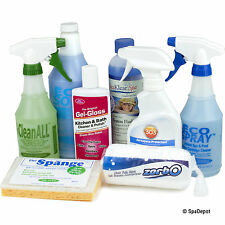 Spa Pro Cleaning Kit - Complete Supplies, Protectants & Jet Flush for Hot Tub