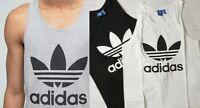 Adidas Originals Mens Vest Tank Top Gym Black Grey White SML Clearance