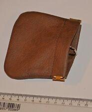 genuine brown leather key/coin pouch