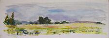 Jacques DE VOS - Peinture originale - Gouache - Un coin de Bretagne