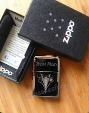 PERSONALISED ENGRAVED genuine ZIPPO for USHER or BEST MAN  - No text limit