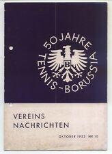 50 Jahre Tennis Borussia Berlin - Vereinsnachrichten - Oktober 1952 - Nr. 10