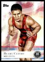 2012 TOPPS OLYMPICS SILVER HENRY CEJUDO WRESTLING #33 PARALLEL