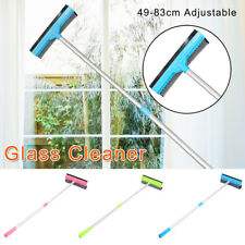 Extendable Metal Handle Window Cleaning Squeegee Brush Shower Car Wiper Sponge