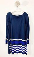 Tu Jersey Dress Size 20 Blue Mix Long Sleeve Casual Stripe casual blogger