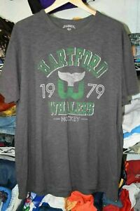 Hartford Whalers EUC High Quality t shirt Banner '47 Men's XXL 2X NHL Hockey