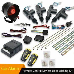 Car Keyless Entry Security System 4 Door Central Locking Remote Control Kit AU