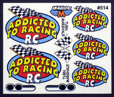 Addicted to Racing Logo Decals for RC Cars, Late Models, Stock Cars, Dirt Oval