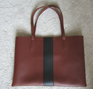 """Vince Camuto Pebbled Leather Double Handle Tote Bag, 16.5"""" wide, 11"""" tall, nice!"""