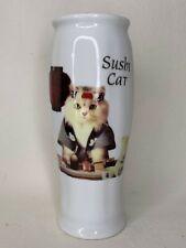 Vintage SUSHI CAT cup / glass - JAPAN BID for 1988 Olympics - Nagoya Hachi Hachi
