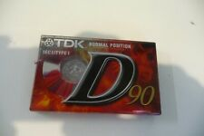 TDK 90 IEC I TYPE 1 CASSETTE VIERGE NEUF EMBALLE.