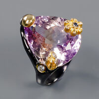 Ametrine Ring Silver 925 Sterling Jewelry Unique Design Size 7 /R141691