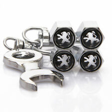 Universal Car Wheel Tire Valve Cover Tyre Dust Cap Wrench keychain For Peugeot