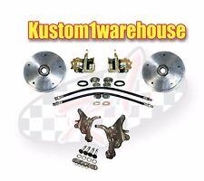 Front 2.5 inch drop spindle disc brake conversion kit 5 on 205 for VW Volkswagen