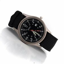 SOKI Quartz Military Army Sport Men's Wrist Calendar Watches Alloy Black L7J8