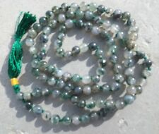 Moss agate gemstone japa mala beads 108 beads ~ meditation, prayer