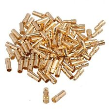 50pairs 3.5mm Gold Banana Bullet Plug Male To Female Connector For RC Battery