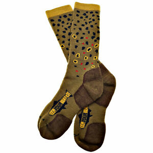 RepYourWater Brown Trout Skin Socks Large