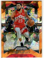 2019-20 Panini Prizm Basketball Fred VanVleet SP Orange Ice Prizm #157 Raptors