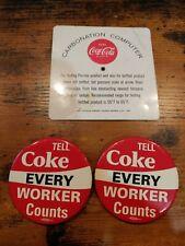 Super RARE Vintage Antique Coca Cola Collectable Carbonation Computer and 2 pins