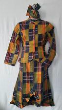 "Women Clothing African Kente Print Ankara Dress Jaxket Set Suit XL 40"" around"