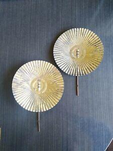 "2 Vintage Oil Lamp Reflectors Tin 7""  Marked EAGLE USA"