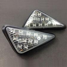 2X Motorcycle Clear Flush Mount Turn Signal  LED Lamp Amber Light Indicator New