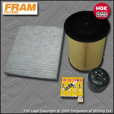SERVICE KIT FORD FOCUS MK2 1.6 16V FRAM OIL AIR CABIN FILTERS PLUGS (2007-2010)