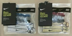 NIKE Unisex Velvet Scrunchie and Ponytail Holder 6-Pack with Pouch Each NEW