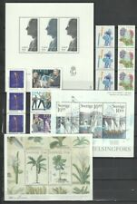 Sweden 2 Pages MNH Souvenir Sheets, Strips Early 2000's CV $89