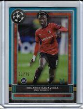 2020 21 Topps Museum Champions Soccer Eduardo Camavinga BLUE ROOKIE #33/75 RC