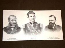 In Serbia nel 1893 Re Alessandro I Giovanni Ristitch Dott.Lazzaro Dokitsch