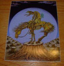 """EMEK 3X4/"""" UNCLE SAM STICKER Art from silkscreen poster print"""