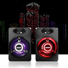USB Subwoofer Deep Bass PC Speaker Portable Music DJ Soundar Computer Speakers