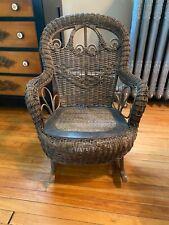 Victorian Wicker Child's Rocking Chair