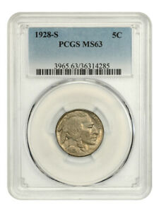 1928-S 5c PCGS MS63 - Buffalo Nickel