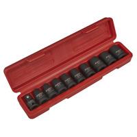 Sealey Tools Heavy Duty Impact Torx Star Female Socket Set E10 > E24 1/2 Drive