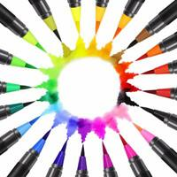 I CREATE Watercolour Brush Pens for Painting, Calligraphy: Set of 4,12 or 24