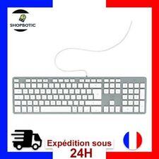 Clavier Francais Azerty Filaire PC Ordinateur Compatible Apple Mac Macbook Imac