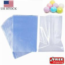 100pcs Heat Shrink Bag Wrap Film Packaging Seal 8x12 Clear Shrinkable Pvc