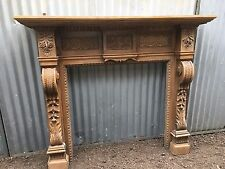 "J DAY B23 ""TYTTENHANGER"" - Original Period Oak Carved Mantle Surround Fireplace"